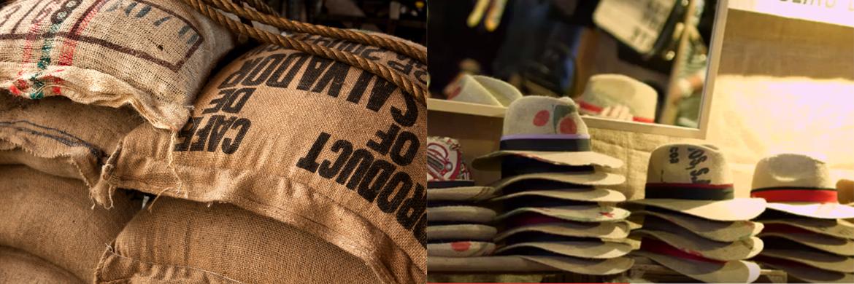 Upcycling - Kaffeesäcke / Hüte