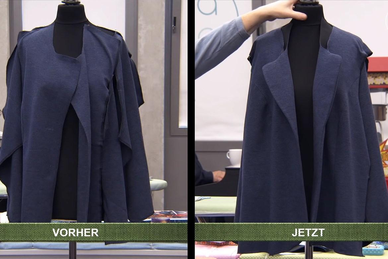 Sabines Blazer - vorher und jetzt